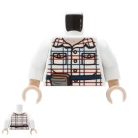 Product shot LEGO Mini Figure Torso - Checked Shirt with Pouch