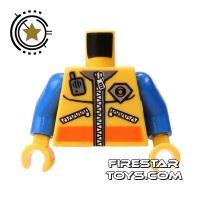 Product shot LEGO Mini Figure Torso - Coast Guard Jacket