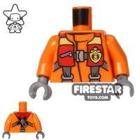 Product shot LEGO Mini Figure Torso - Coast Guard - Life Preserver