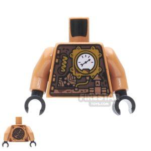 Product shot LEGO Mini Figure Torso - Copper Clockwork Robot