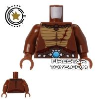 Product shot LEGO Mini Figure Torso - Crocodile - Jewel Belt