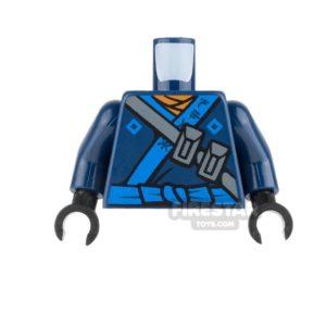 Product shot LEGO Mini Figure Torso - Dark Blue Ninja Robe with Blue Sash