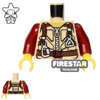Product shot LEGO Mini Figure Torso - Dino Ballistic Vest