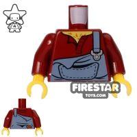 Product shot LEGO Mini Figure Torso - Dungarees