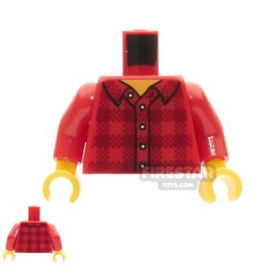 Product shot LEGO Mini Figure Torso -  Flannel Shirt