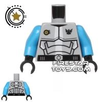 Product shot LEGO Mini Figure Torso - Galaxy Squad Armour - Dark Azure