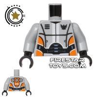 Product shot LEGO Mini Figure Torso - Galaxy Squad Robot Armour - Orange