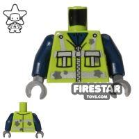 Product shot LEGO Mini Figure Torso - Garbage Man Vest