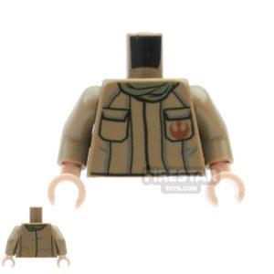 Product shot LEGO Mini Figure Torso - Light Blueish Gray Robe