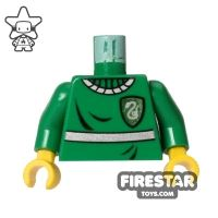 Product shot LEGO Mini Figure Torso - Harry Potter Quidditch Uniform - Yellow Hands