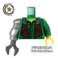 Product shot LEGO Mini Figure Torso - Jack McHammer - Mech Hand