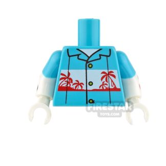 Product shot LEGO Mini Figure Torso - Joker - Hawaiian Shirt