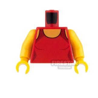 Product shot LEGO Mini Figure Torso - Lifeguard Swimsuit