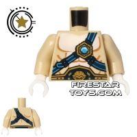 Product shot LEGO Mini Figure Torso - Lion - Blue Straps and Belt