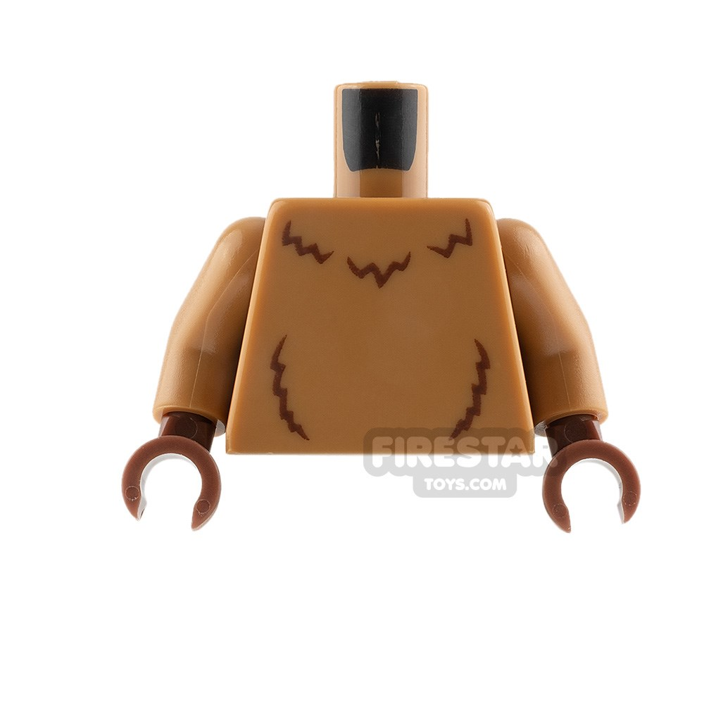 Product shot LEGO Mini Figure Torso - Lion - Medium Dark Flesh