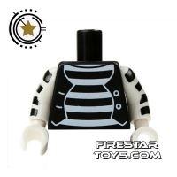 Product shot LEGO Mini Figure Torso - Mime Outfit