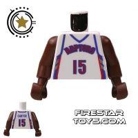 Product shot LEGO Mini Figure Torso - NBA Raptors - Player 15