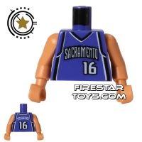 Product shot LEGO Mini Figure Torso - NBA Sacramento Kings - Player 16