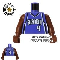 Product shot LEGO Mini Figure Torso - NBA Sacramento Kings - Player 4
