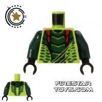Product shot LEGO Mini Figure Torso - Ninjago - Dark Green Scales
