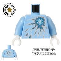 Product shot LEGO Mini Figure Torso - Ninjago - Ice Energy