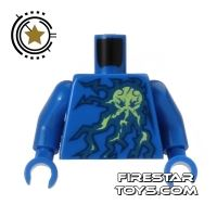 Product shot LEGO Mini Figure Torso - Ninjago - Lightning Energy