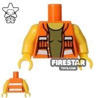 Product shot LEGO Mini Figure Torso - Open Construction Jacket