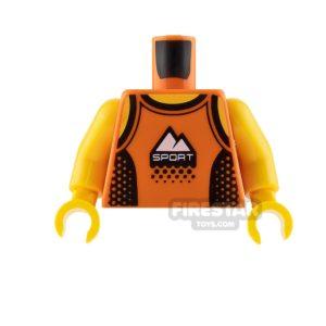 Product shot LEGO Mini Figure Torso - Orange Sports Vest