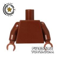 Product shot LEGO Mini Figure Torso - Plain Reddish Brown