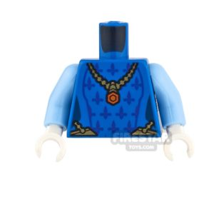 Product shot LEGO Mini Figure Torso - Queens Robe with Necklace