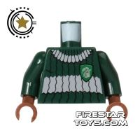 Product shot LEGO Mini Figure Torso - Quidditch - Slytherin