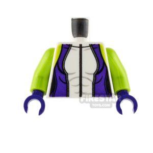 Product shot LEGO Mini Figure Torso - She-Hulk