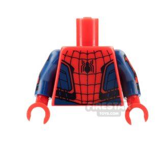 Product shot LEGO Mini Figure Torso - Spiderman Homecoming
