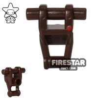 Product shot LEGO Mini Figure Torso - Star Wars Battle Droid - Dark Brown with Red Insignia
