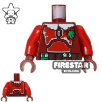Product shot LEGO Mini Figure Torso - Star Wars - Jango Fett Christmas