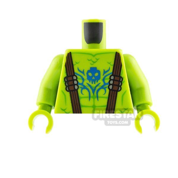 Product shot LEGO Mini Figure Torso Swamp Creature