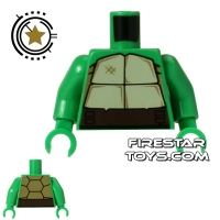 Product shot LEGO Mini Figure Torso - Teenage Mutant Ninja Turtles - Shell with Belt