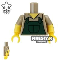 Product shot LEGO Mini Figure Torso - The Simpsons - Groundskeeper Willie Overalls