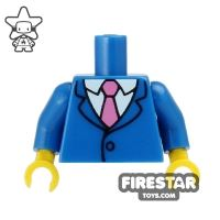 Product shot LEGO Mini Figure Torso - The Simpsons - Homer in Suit and Tie