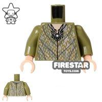 Product shot LEGO Mini Figure Torso - Thranduil Elf - Silver Robe