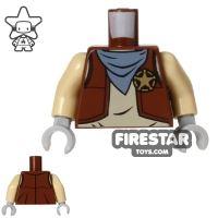 Product shot LEGO Mini Figure Torso - Western Cowboy