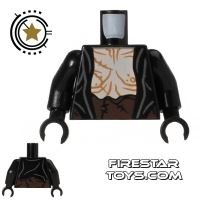 Product shot LEGO Mini Figure Torso - Yazneg - Open Shirt