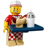 Product shot LEGO Minifigures 71018 - Hot Dog Guy