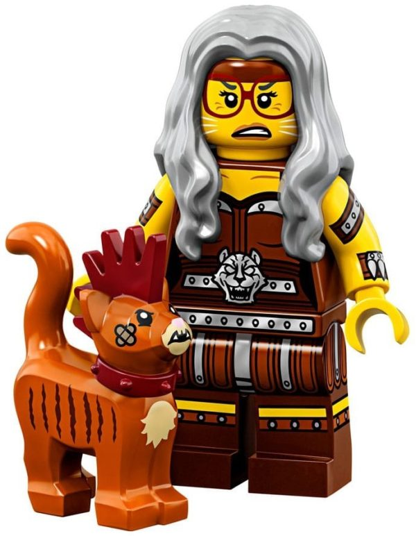 Product shot LEGO Minifigures 71023 Sherry Scratchen-Post & Scarfield