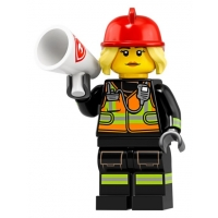 Product shot LEGO Minifigures 71025 Fire Fighter
