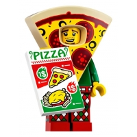 Product shot LEGO Minifigures 71025 Pizza Costume Guy