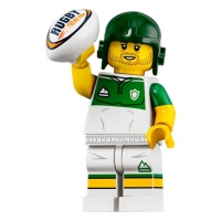 Product shot LEGO Minifigures 71025 Rugby Player