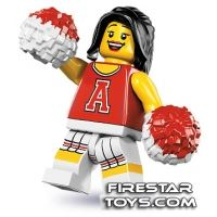 Product shot LEGO Minifigures - Red Cheerleader