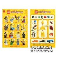 Product shot LEGO - Minifigures Series 1 Collectable Leaflet