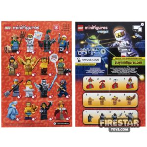 Product shot LEGO - Minifigures Series 15 Collectable Leaflet